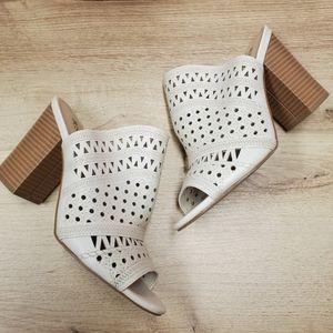 ESTHER JustFab Mule heeled Sandal